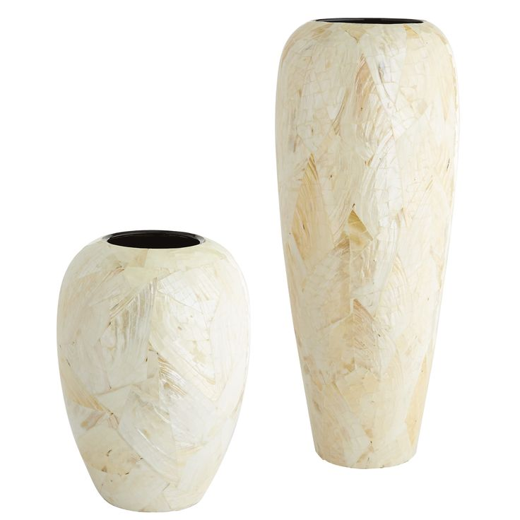Ivory Mother Of Pearl Floor Vase In 2019: Mother-Of-Pearl Crackle Vases