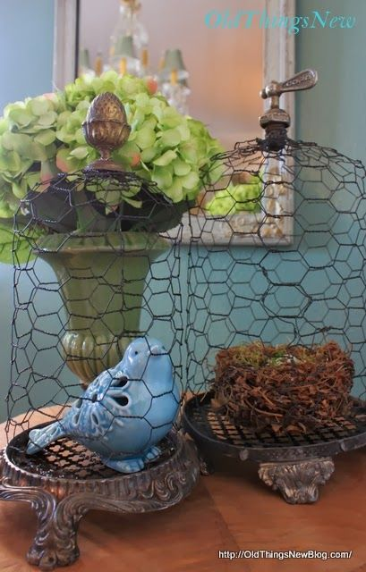 275 best images about creative chicken wire inspirations for Chicken wire craft ideas