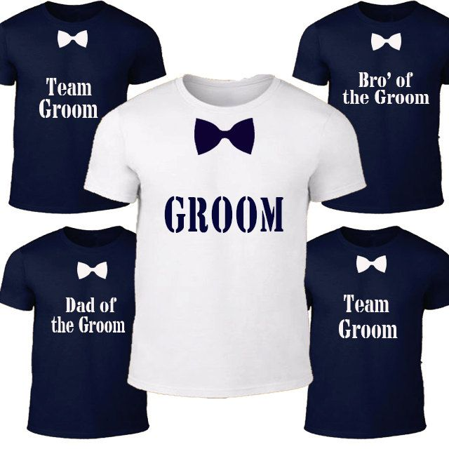 Personalized Groom tshirt navy - Groommen Shirt - Bachelor Party - Groom shirt - Bachelor tshirt - Bowtie shirt - Groom top - wedding shirt by BIGOUDIBIGOUDA on Etsy