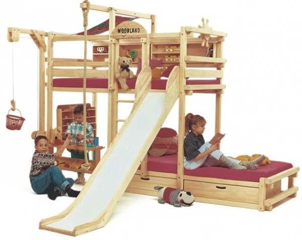 a very fun bunk bed