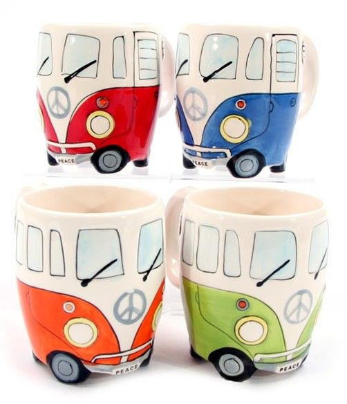 Wohnmobil Tasse in 4 versch. Farben Becher Kaffeebecher Kaffeetasse Camper van