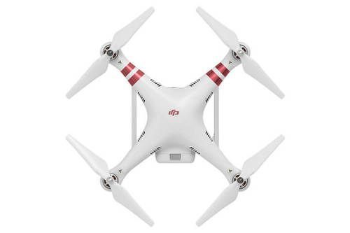 Top view of the DJI Phantom 3 Standard Quad Drone - for sale