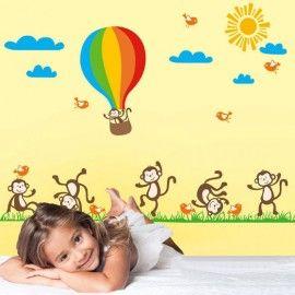 Poze Stickere copii - Maimute vesele
