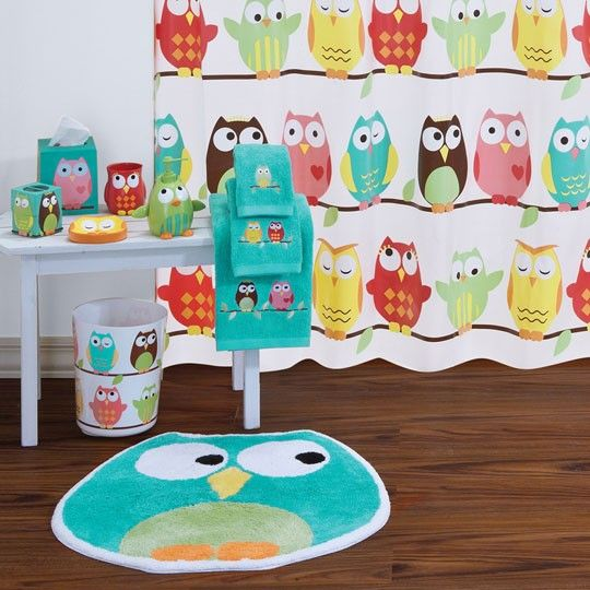 another kids bathroom idea..<3 Owl Bath Collection $15.00 I want this in MY bathroom :D