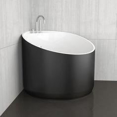 Freistehende badewanne eck aus acryl mini black glass - Mini badewanne ...