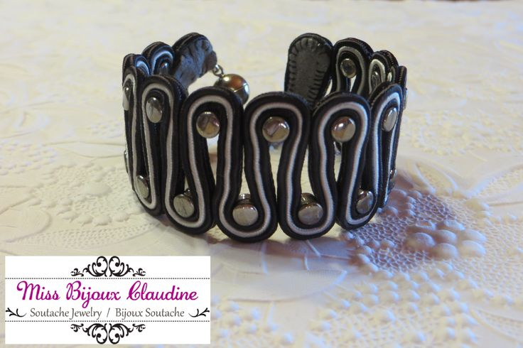 Soutache Bracelet with pellet beads - by Miss Bijoux Claudine - 2015