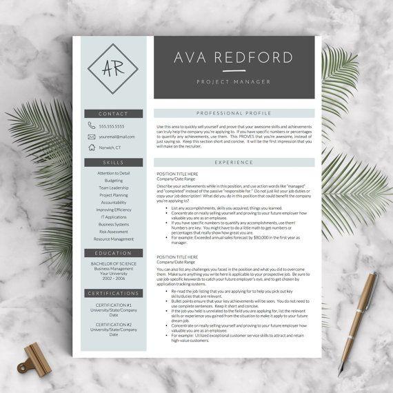 Creative Resume Template for Word US Letter by LandedDesignStudio
