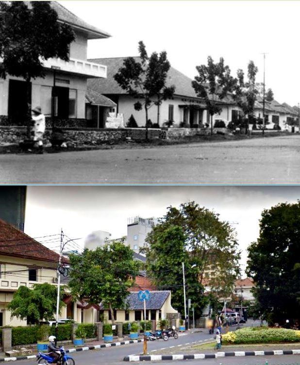 Huizen aan Sumatraweg, Weltevreden te Batavia, circa 1928, ,., Rumah2 di jl Sumatera, Jakarta, 2015