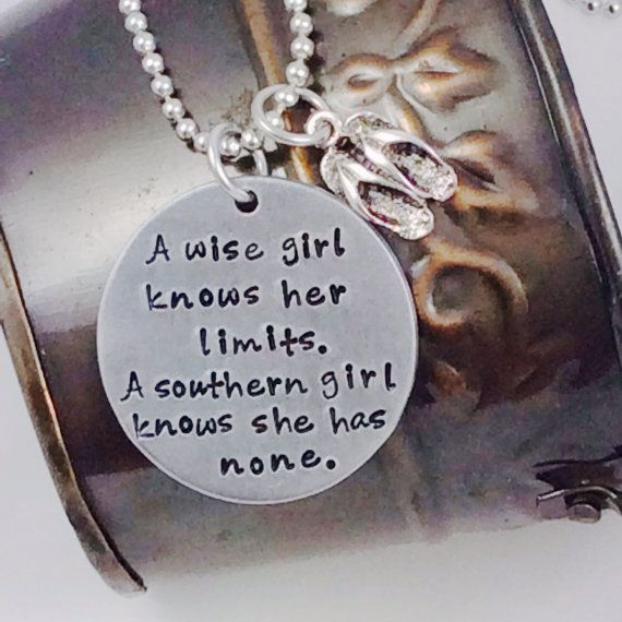 Hand Stamped Southern Girl necklace by AmeliasExpressions