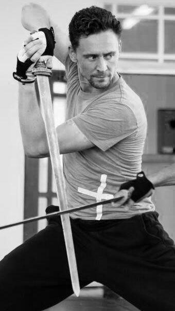 Will I ever not repin Tom Hiddleston with a sword?  The answer is no.