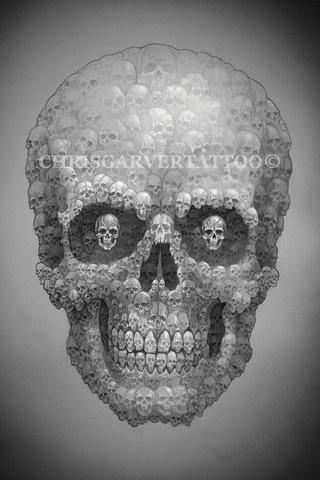 Artist Chris Garver #skulls #art