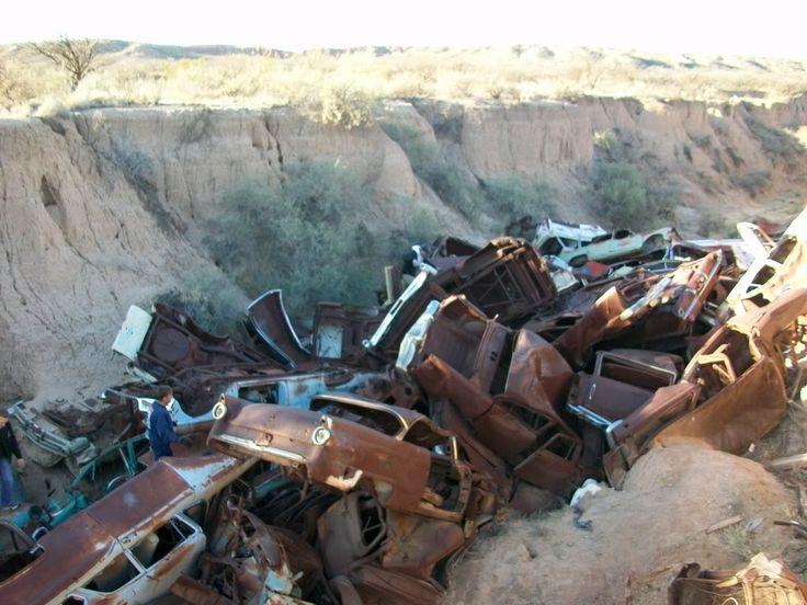 Exploring Arizona- abandoned, wrecked cars & trucks, old hiways, etc