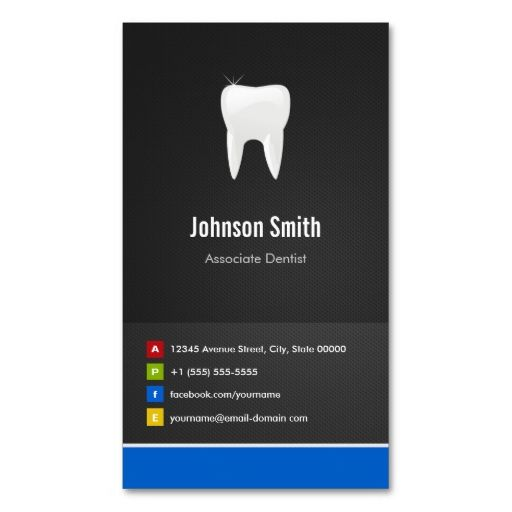 Associate Dentist - Dental Creative Innovative Business Card Template. This is a fully customizable business card and available on several paper types for your needs. You can upload your own image or use the image as is. Just click this template to get started!