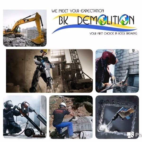 Core Drilling,Rock Breaking/Blasting,Concrete Cutting,Crack IT  This Is Your Only One-Stop Solution..  We Will Provide You The Best Customer Service & Supply You All Sorts Of Power Tools/Repairs You Require In...  Core Drilling  Concrete Cutting  Rock Breaking/Blasting  Demolition  Crack IT  (Katrock Chemical) Power Tools & Repairs  For Free Quotes... Please feel free to Contact   Catherine Atherton   Tel. 021 839 4533/076 865 8265   Email: qs@bkdemolition.co.za
