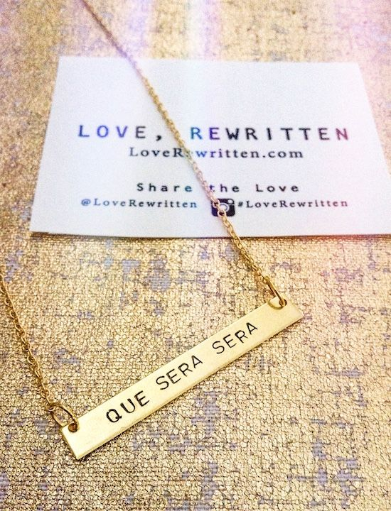 Que Sera Sera Necklace | LoveRewritten.com