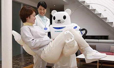 Robear, robot berwujud beruang pengasuh lansia. - Disediakan oleh Republika_New