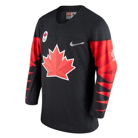 Team Canada Nike 2018 Black Olympic Jersey