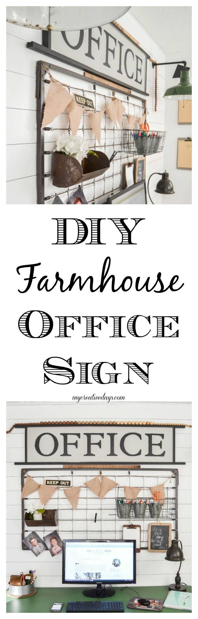 DIY Farmhouse Office Sign