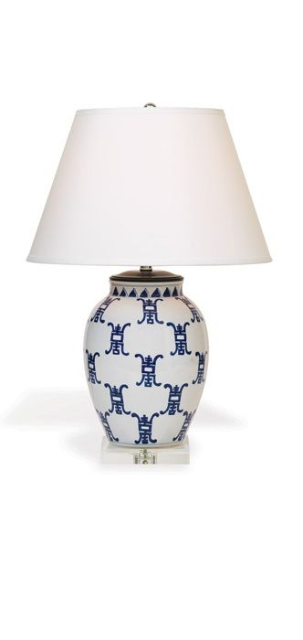 InStyle Decor Chinese Blue White Porcelain Table Lamps Simply Beautiful Living Room