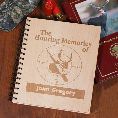 Personalized engraved hunting memories wooden keepsake for Hunting and fishing gifts
