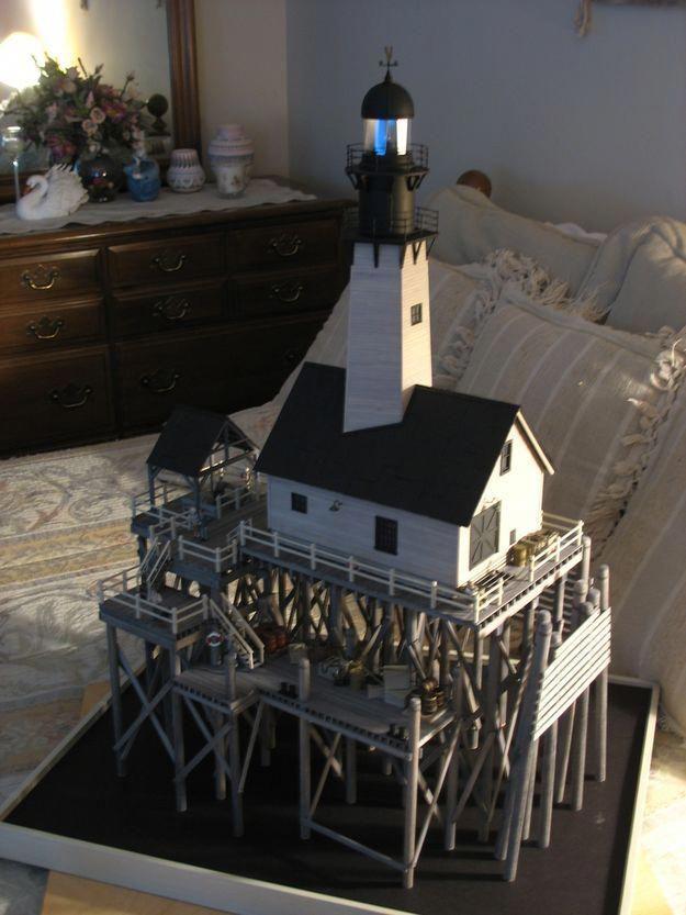 Railroad Line Forums O Scale Lighthouse Part 1 The Pier