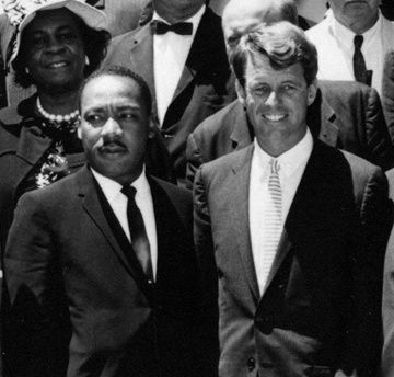 JFKWHP-AR7993-B (crop): Martin Luther King, Jr. and Civil Rights Leaders with Attorney General Robert F. Kennedy and Vice President Lyndon B. Johnson, 22 June 1963