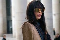 Paris #streetstyle #fashion Long hair and sunglasses, accessories and hair....