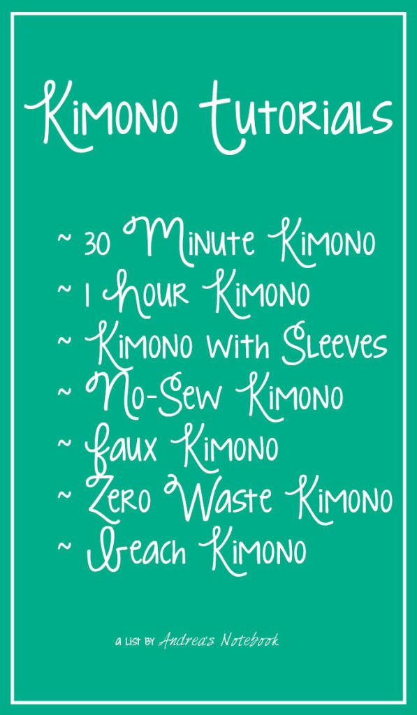 GREAT kimono tutorials! Check them all out!
