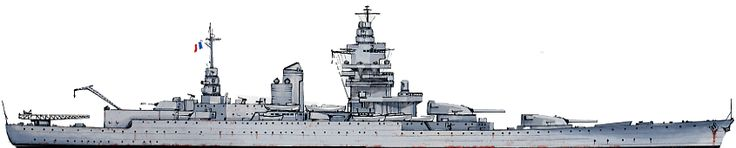 Dunkerque was the lead ship of the Dunkerque class of battleships built for the French Navy in the 1930s. The class also included Strasbourg.