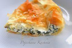 Ciasto filo faszerowane kurczakiem, szpinakiem i serem feta | Pojechana Kuchnia