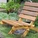 Cedar Folding Chair for Garden, Deck and Patio - (color natural cedar tones). $138.00, via Etsy.