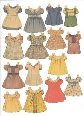 Paper dolls: clothes & dolls... Quite a collection of links