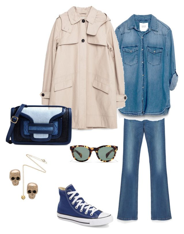 """""""THURSDAY'S OUTFIT"""" by maellog on Polyvore featuring Zara, J.Crew, Pierre Hardy, Givenchy, Estella Bartlett, Converse, polyvoreeditorial, polyvorestyle and polyvoreoutfit"""