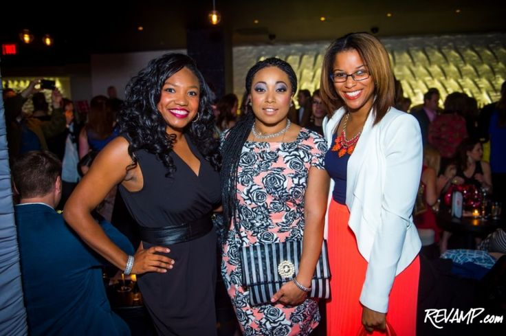 Revamp™ - What Are You Wearing? STK Steak House Grand Opening/Launch Party. Angelica Talan, Demetria Lucas (A Belle In Brooklyn) & Morgan Fykes