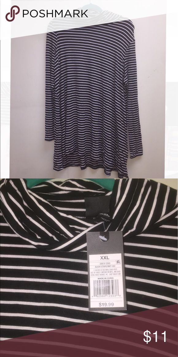Black & White Striped Long Sleeve Turtleneck Dress Super cute & very soft!!! NWT Mossimo Supply Co Dresses Long Sleeve