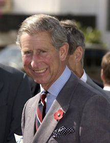 Prince Charles, Prince of Wales. Heir Apparent. If he succeeds Queen Elizabeth II, he will become Charles III or may honour his Grandfather, George VI by becoming George VII. Father of Princes William (2nd in line) and Harry (3rd in line)