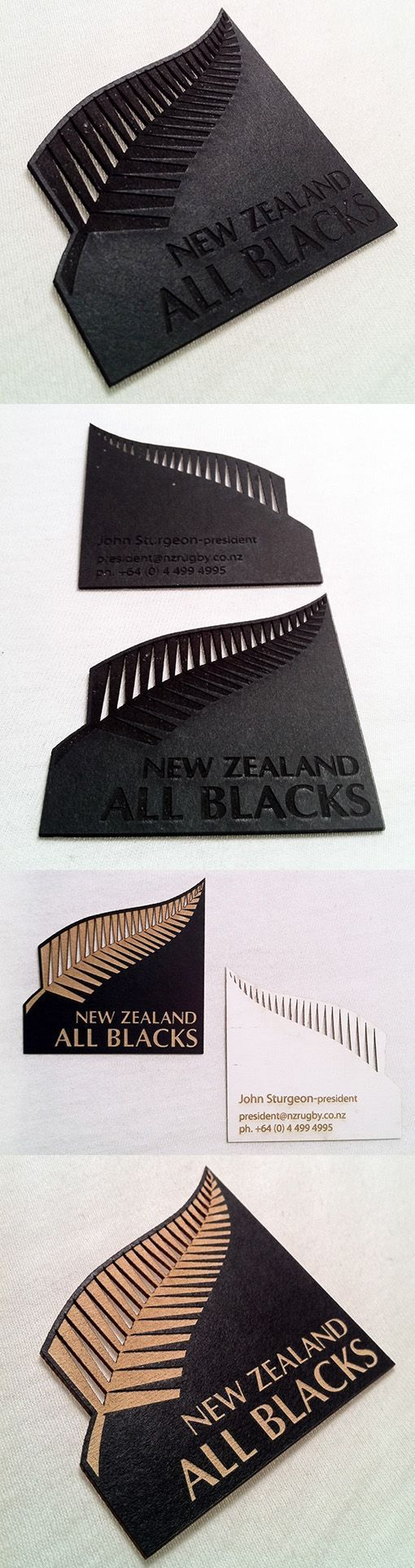 Stylish Laser Cut And Etched Black Business Card For A Rugby Team #UniqueBusinessCards #businesscardmaker