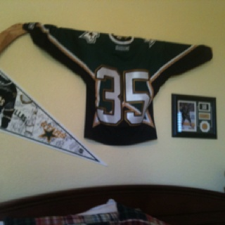going to do this with his 1st stick and jersey-very cute idea.
