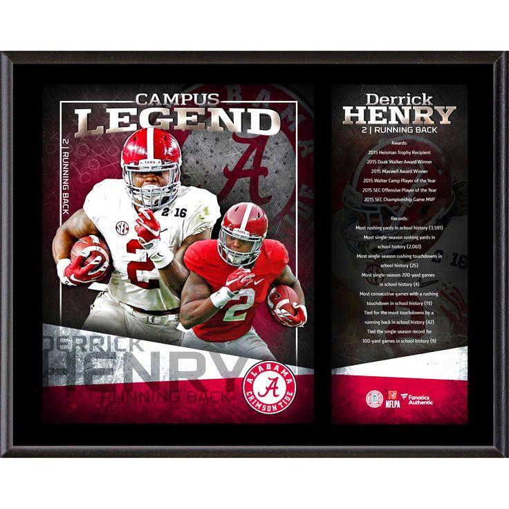 "Derrick Henry Alabama Crimson Tide Fanatics Authentic 12"" x 15"" Campus Legend Sublimated Player Plaque - $31.99"
