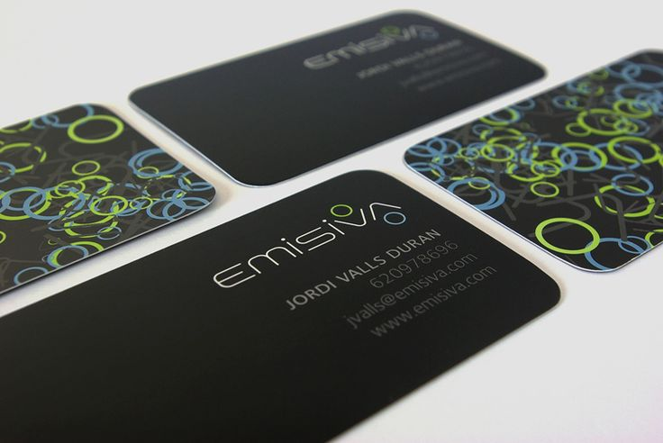 Emisiva business card design
