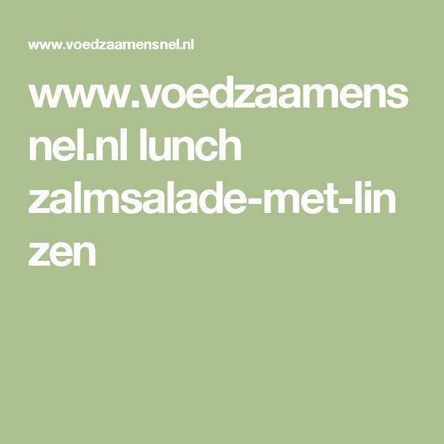 www.voedzaamensnel.nl lunch zalmsalade-met-linzen