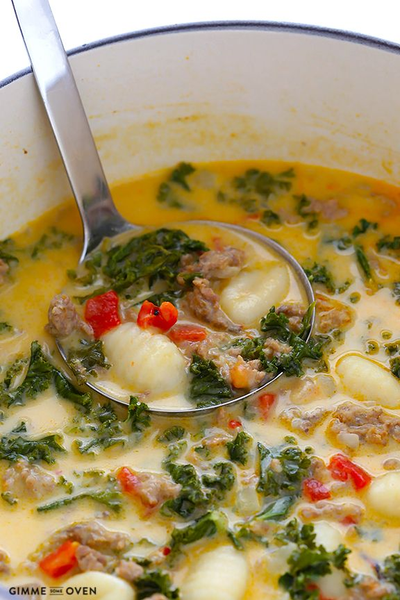 7 Ingredient Easy Zuppa Toscana Recipe -- ready to go in 30 minutes, and inspired by the popular soup from Olive Garden   gimmesomeoven.com