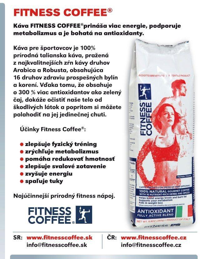 Kava Fitness Coffee 100% přírodní káva obohacená o 16 léčivých bylin, která splní touhu být zdravý a aktivní.