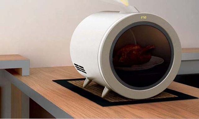 Future technology Concept Microwave of future
