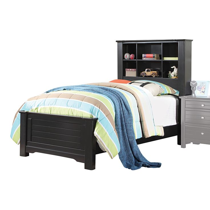 acme furniture mallowsea bed black full bed with storage 89 x 61