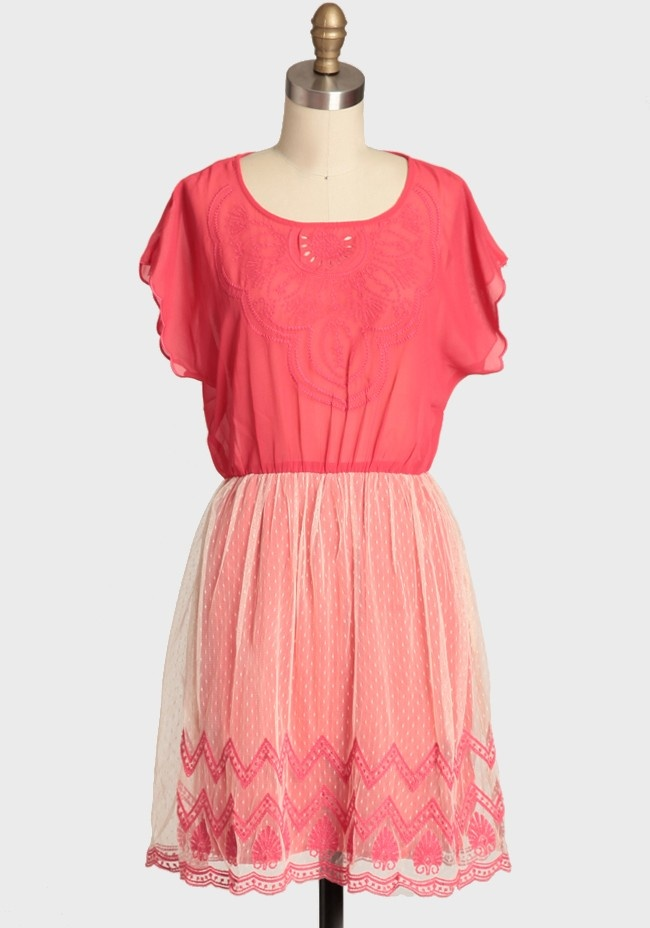 Cute !Glow Chiffon, Coral, Style, Clothing, Closets, Sunsets Glow, Fashion Dreams Wardrobes, Chiffon Dresses, Clothes'S Outfits Sho