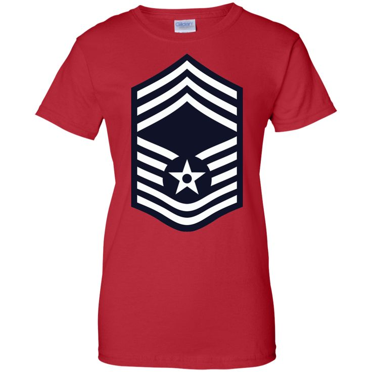 Air Force Chief Master Sergeant Rank Ladies Custom 100% Cotton T-Shirt