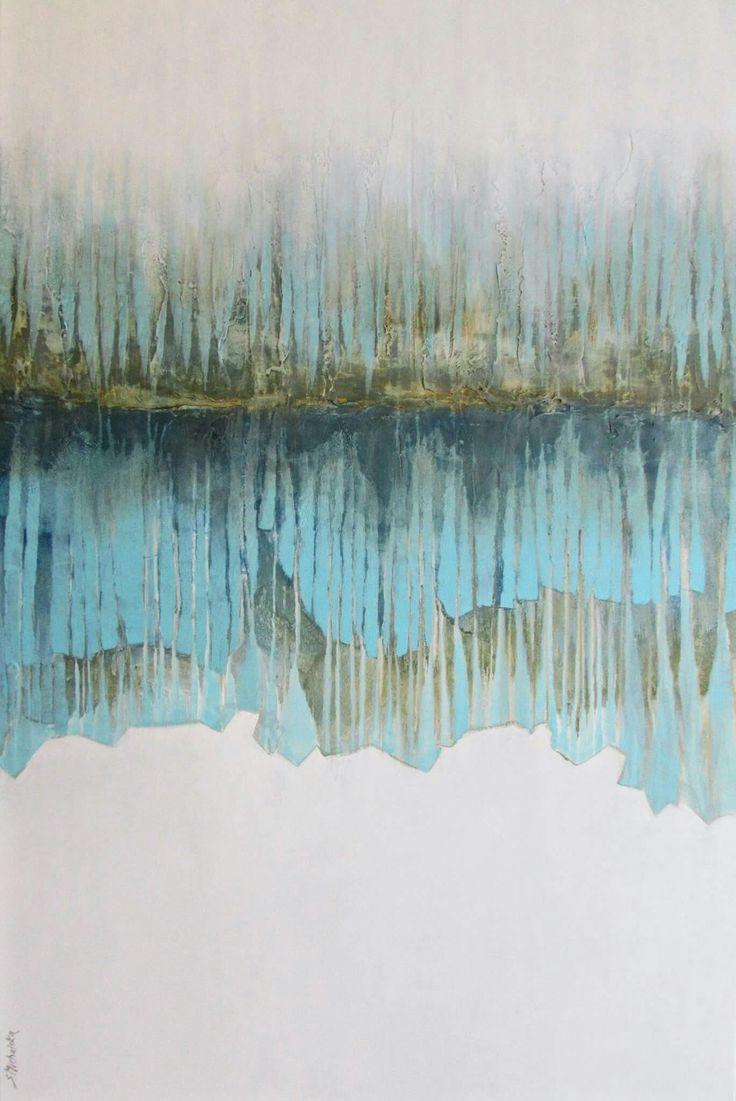 """""""W głębi lasu"""" pejzaż abstrakcyjny 80x120cm, obrazy Sylwia Michalska"""
