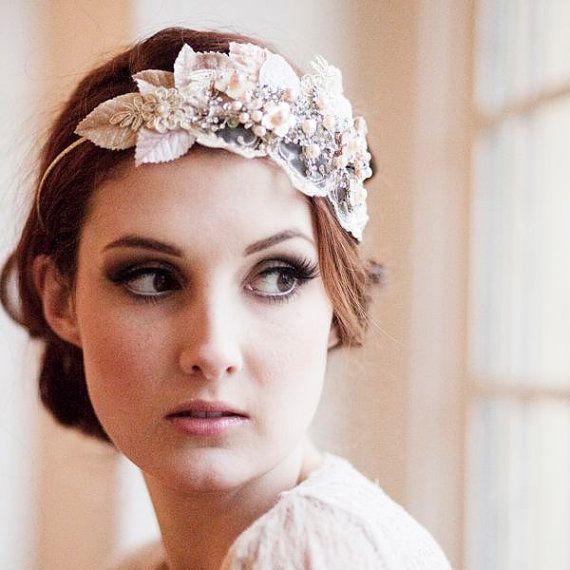 Vintage Milliner's Velvet Leaf Bridal by VictoriaMillesime on Etsy