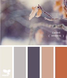 greys and browns, quite beautiful.  I think it would work well in our lounge room....